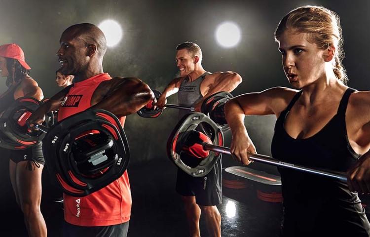 Les Mills body pump class at Prestige Fitness
